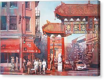 The Harmony Gate Canvas Print by Leslie Redhead