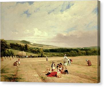 The Harvest Field Canvas Print by William Frederick Witherington