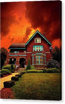 The Haunted Brumder Mansion Canvas Print by Phil Koch