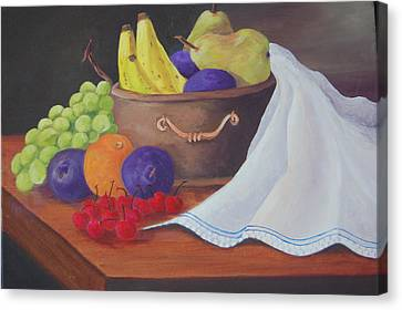 The Healthy Fruit Bowl Canvas Print by Janna Columbus