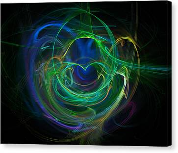 Swirling Desires Canvas Print - The Heart's Desire by Ricky Barnard
