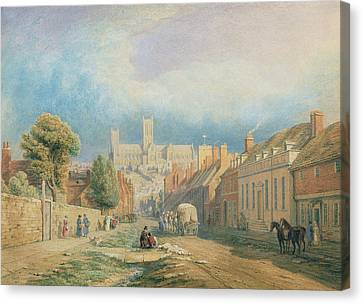 The High Street Lincoln  Canvas Print
