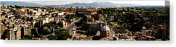 The Historic Centre Of Rome Canvas Print