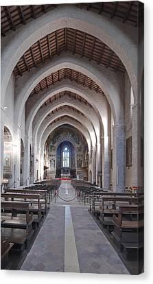 The Historic Duomo In Gubbio. 12th Canvas Print