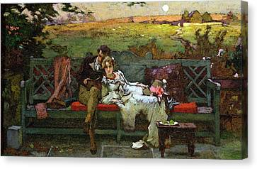 The Honeymoon Canvas Print by Marcus Stone