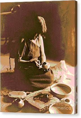 The Hopi Potter Canvas Print by Padre Art