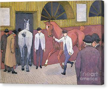 The Horse Mart  Canvas Print