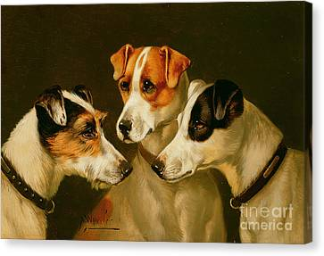 Dog Canvas Print - The Hounds by Alfred Wheeler