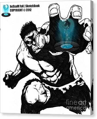 The Hulk Canvas Print by Hossam Fox