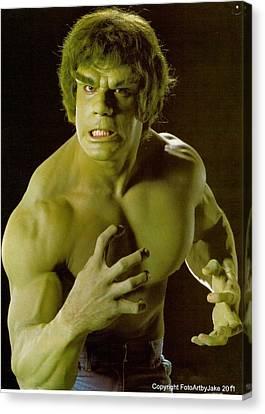 The Hulk  Canvas Print by Jake Hartz