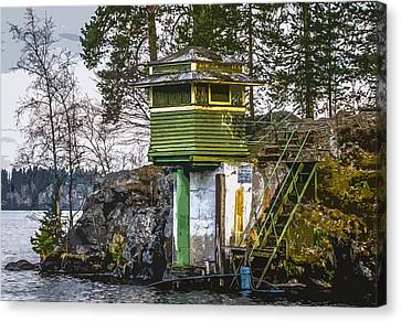 Canvas Print featuring the photograph The Hut 2 by Matti Ollikainen