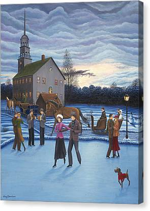 The Ice Skaters Canvas Print by Tracy Dennison