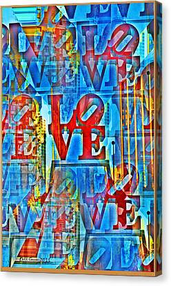 The Illusion Of Love Canvas Print by Bill Cannon