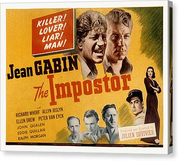 The Impostor, Jean Gabin, 1944 Canvas Print by Everett