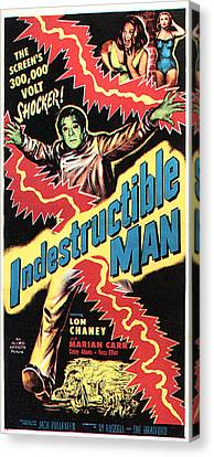 The Indestructible Man, Lon Chaney Jr Canvas Print by Everett