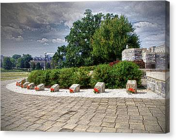 The Innocent Ones-virginia Tech Memorial Canvas Print by Kathy Jennings