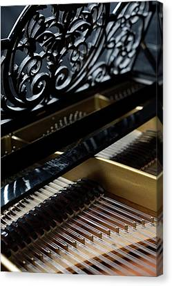 The Inside Of A Piano Canvas Print by Studio Blond