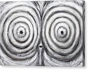 The Insomnia Penguin Canvas Print by Kazuya Akimoto