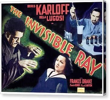 The Invisible Ray, Boris Karloff Canvas Print by Everett