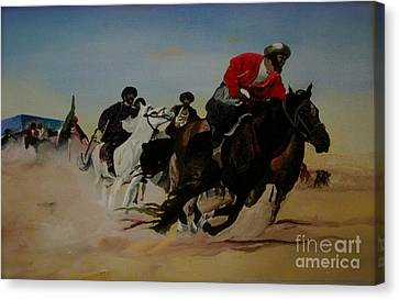 The Invisible War Canvas Print by Antonio Hedgepeth