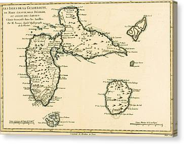 The Islands Of Guadeloupe Canvas Print by Guillaume Raynal