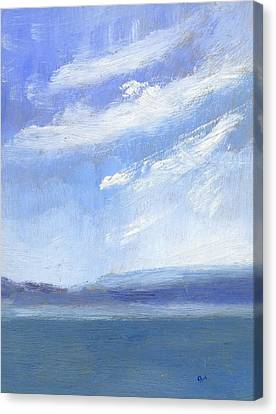 The Isle Of Wight From Portsmouth Part Three Canvas Print by Alan Daysh