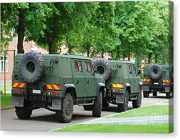 The Iveco Lmv Of The Belgian Army Canvas Print by Luc De Jaeger