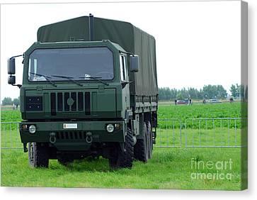 The Iveco M250 8 Ton Truck Canvas Print by Luc De Jaeger