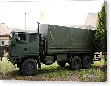 The Iveco M250 8 Ton Truck Used Canvas Print by Luc De Jaeger
