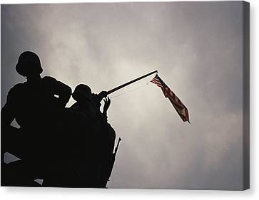 The Iwo Jima Memorial Silhouetted Canvas Print