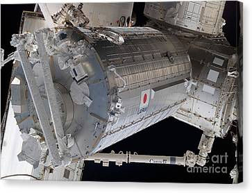 The Japanese Pressurized Module, The Canvas Print by Stocktrek Images