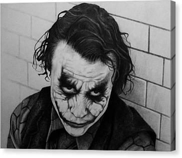 The Joker Canvas Print by Carlos Velasquez Art
