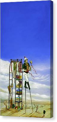 The Journey Of A Performer Canvas Print by Cindy D Chinn