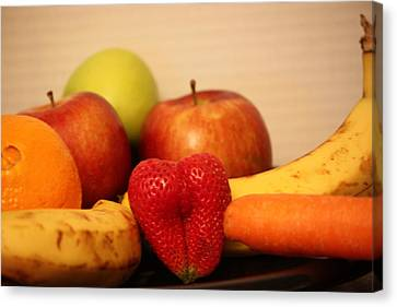 The Joy Of Fruit At Bedtime Canvas Print by Andrea Nicosia