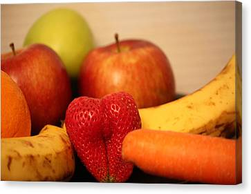 The Joy Of Fruit At Mid-day Canvas Print by Andrea Nicosia