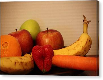 The Joy Of Fruit At Supper Canvas Print by Andrea Nicosia