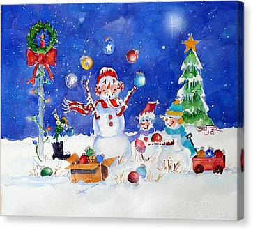 The Juggler Canvas Print by Suzy Pal Powell