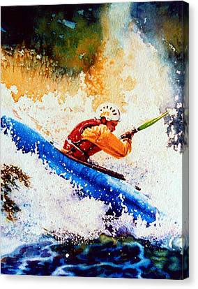 The Kayak Racer 17 Canvas Print by Hanne Lore Koehler