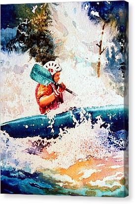 The Kayak Racer 18 Canvas Print by Hanne Lore Koehler
