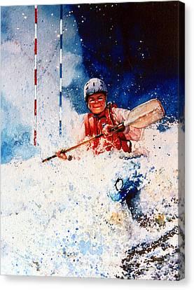 The Kayak Racer 20 Canvas Print by Hanne Lore Koehler