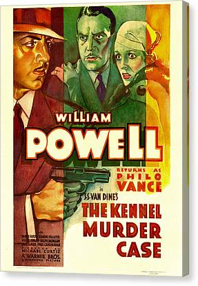 The Kennel Murder Case, William Powell Canvas Print