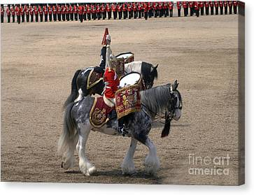 The Kettledrums Of Household Cavalry Canvas Print by Andrew Chittock