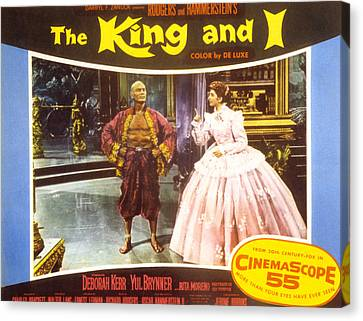 The King And I, Yul Brynner, Deborah Canvas Print by Everett