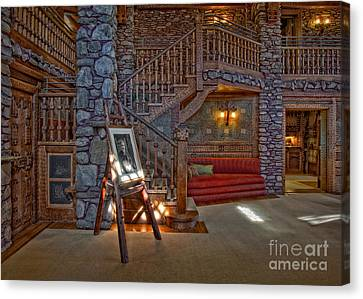 Woodcarving Canvas Print - The King's Living Room by Susan Candelario
