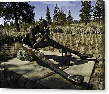 Canvas Print featuring the photograph The Korean Veteran by Larry Depee