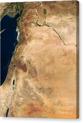 The Lands Of Israel Along The Eastern Canvas Print by Stocktrek Images