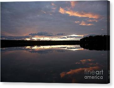 The Last Glow Canvas Print by Heiko Koehrer-Wagner