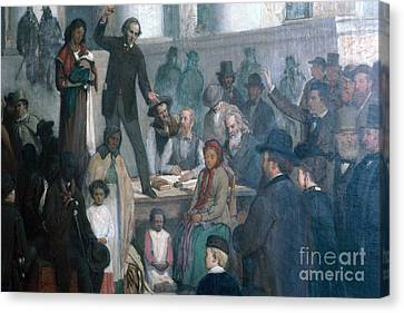 The Last Slave Sale Canvas Print by Photo Researchers