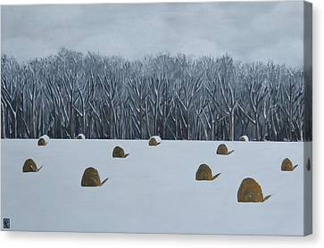 The Lazy Farmers' Field Canvas Print by Holly Donohoe