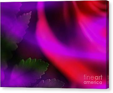 The Leaf And The Rose Canvas Print by Judi Bagwell